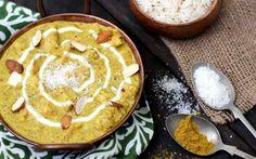 Pollo con salsa de almendras y coco al curry
