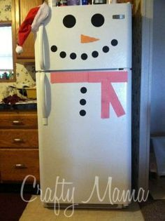 Easy Christmas Craft Snowman Fridge