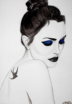 Leighton Meester / Blair Waldorf - Gossip Girl Fine Art Print in Black and White. £20.00, via Etsy.