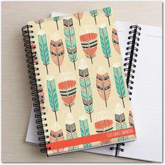 Rustic Feathers - Paper Notebooks - Tallu-lah - Bay - Green | www.TinyPrints.com