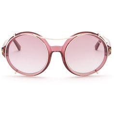1c52eb4f0 Tom Ford Women's Juliet Sunglasses ($200) ❤ liked on Polyvore featuring  accessories, eyewear, sunglasses, glasses, lens glasses, pink glasses, ...