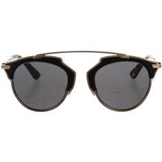 Pre-owned Christian Dior So Real Sunglasses ($345) ❤ liked on Polyvore featuring accessories, eyewear, sunglasses, gold, logo sunglasses, christian dior, gold glasses, gold sunglasses and christian dior sunglasses