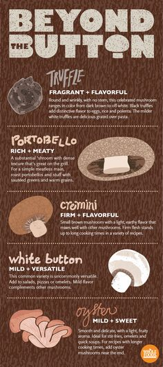So many different ways to use mushrooms this holiday season! #holiday #mushrooms #infographic