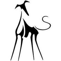 Lévriers Whippet, Whippet Puppies, Whippets, Greyhound Kunst, Greyhound Tattoo, Manchester Terrier, Husky Cross, Lurcher, Illustration