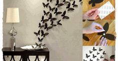 Há algum tempo estava querendo falar sobre essa decoração de borboletas de papel com vocês, pois vi uma foto e achei incrível, salvei no computador e hoje resolvi mostrar o passo a passo para quem gosta de decoração assim como eu.