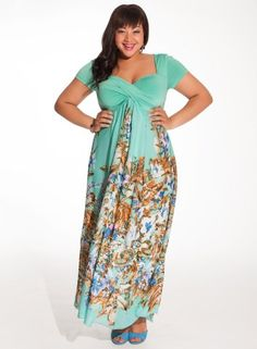 Christina Maxi Dress in Mint Floral Clothing, Shoes & Jewelry : Women : Clothing : Dresses : big sizes http://amzn.to/2luZtGE