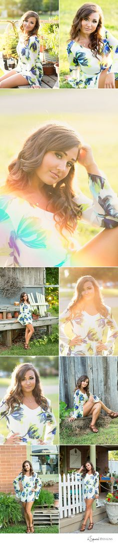 d-Squared Designs Southeast MO Senior Photography. Senior girl photography. Fashion romper. Summer senior session inspiration.