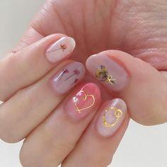 pressed flower nails