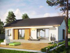Projekt domu Dimaro. Nowoczesny, mały dom parterowy.