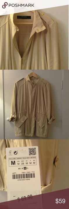 🎉 Weekend sale!! 🍸🌅 ZARA Safari Jacket NWT!! Zara Jackets & Coats Utility Jackets