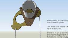 3D Model of Blast Gate - Pivoting - Woodworking Dust Collection