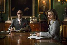 "slackerpentecost: ""Mark Strong and Sophie Cookson in Kingsman: The Secret Service MERLIN IS IN ARTHUR'S SEAT AAAAa """