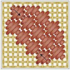 """Милые сердцу штучки: Техники вышивания. Часть 19: """"Венгерские швы"""" (Hungarian Stitch)"""