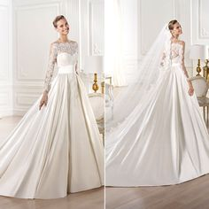 "Pronovias Style ""Yamay"". gorg. very grace kelly...always wanted something like this for the bottom"