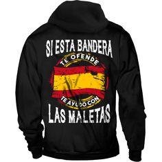 Si esta bandera te ofende te ayudo con la maletas - Sudaderas Esto es España. Humor, Memes, Clothes, Frases, Printed Tees, Sweatshirts, Spain Flag, Cool Stuff To Buy, Vintage Posters