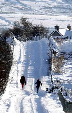 Cargan in Winter, County Antrim, Northern Ireland -