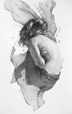 Suspended by James Taylor Gray #illustration #drawing #graphite