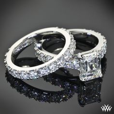 Custom Diamond Engagement Ring and Wedding Ring | 31001