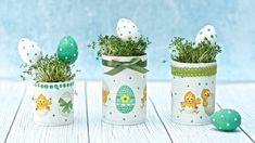 Wielkanocne puszki decoupage na rzeżuchę - DIY tutuorial