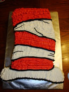 Cat in the Hat Cake @Holly Hanshew Elkins Rivest, Dr. Suess Week at school?