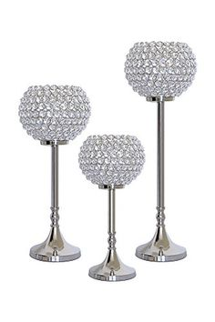 2pcs White Feather Silver Mirrored Glass Candle Plate Tealight Table Centerpiece