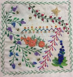 Heather joined my classes as a very proficient embroiderer. She is one of those neat, tidy and organised people (everything I am not) ...