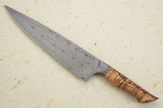 Chef's Knife (10 in) with Mosaic Damascus and Spalted Curly Maple Mareko Maumasi
