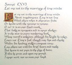 Shakespeare - Sonnet 116
