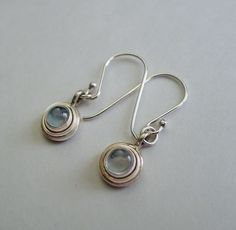 Dainty Blue Topaz Earrings - Sterling Silver Light Sky Blue Topaz Gemstone Dangle Earrings, .925 Silver and Topaz Drop Earrings, SE-GSP259 by SilverEnchantments on Etsy