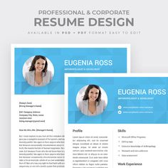 Highlight your skills and experience with this nicely designed cover letter and resume package in one. Customize the template to your needs with graphics files