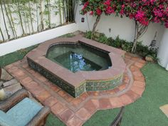 The Magnificent All Glass Tile Fire And Water Feature