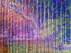 """'Vorhang """"Garten abstrakt""""' von Rudolf Büttner bei artflakes.com als Poster oder Kunstdruck $18.71"""