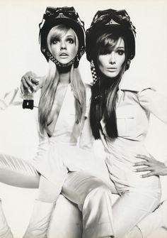 Karen Mulder & Carla Bruni | Photography by Satoshi Saikusa | For Vogue Magazine France | June 1995