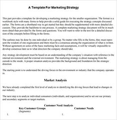 marketing plan templates marketing plan examples marketing plan  sample strategic plan templates 10 documents in pdf word college graduate sample resume examples of a good essay introduction dental hygiene cover
