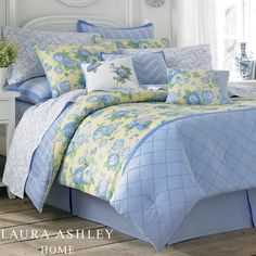 Salisbury Floral Comforter Bedding by Laura Ashley