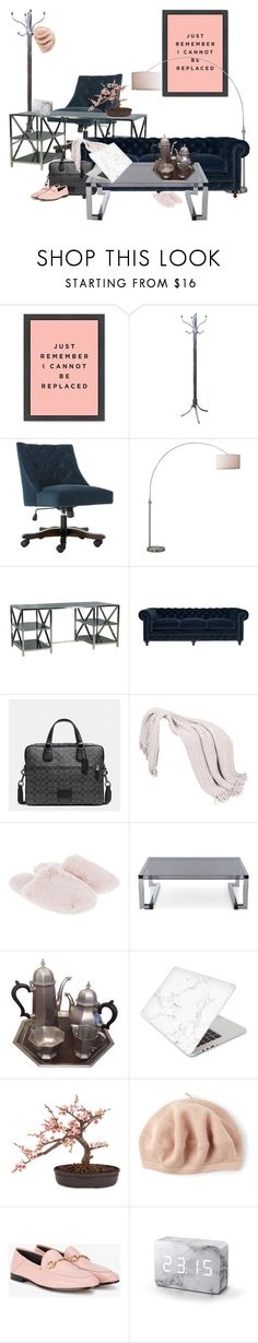 """""""wfh"""" by nifty-nif ❤ liked on Polyvore featuring interior, interiors, interior design, home, home decor, interior decorating, Safavieh, Accessorize, Interlude and Gorham"""