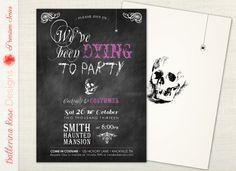 PREMIUM  Halloween Invitation  We've Been by BallerinaRoseDesigns, $12.00