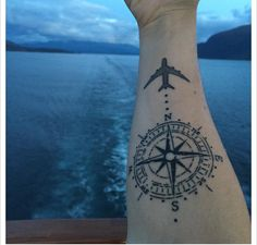 71 amazing travel tattoo ideas to fuel your wanderlust. Tattoos Arm Mann, Forarm Tattoos, Arrow Tattoos, I Tattoo, Tatoos, Small Star Tattoos, Small Wrist Tattoos, Arm Tattoos For Guys, Dream Tattoos