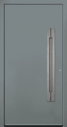 Contemporary and modern entry doors by Groke. A superior alternative to fiberglass, steel or wood doors. Modern Entry Door, Modern Exterior Doors, Entry Doors, Entrance, Modern Driveway, Iron Doors, Welding Projects, Door Design, Phoenix