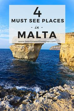 Don't miss these 4 Must See Places in Malta! Places include old town Valletta, the Blue Grotto, and the gorgeous island of Gozo!
