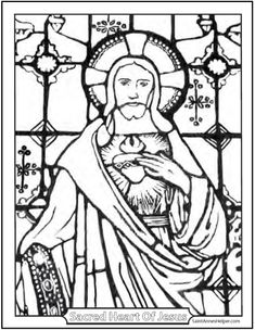 first friday devotion and sacred heart coloring page