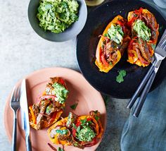 Food blogger Alessandra Peters created this gluten-free supper of baked sweet potato and spicy filling. It's super-easy and contains 4 of your 5-a-day