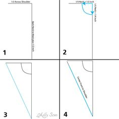 Beginning steps- Make a bodice pattern - bodice drafting - Melly Sews