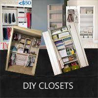 a collection of diy closet ideas