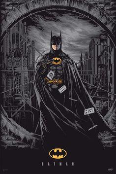 Ken Taylor Batman Variant Poster Print Mondo Michael Keaton 1989