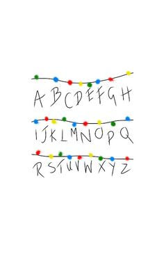Stranger Things Alphabet Lights