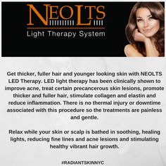 Visit our website for more details about LED light therapy http://www.radiantskinnyc.com/our-services/cosmetic-dermatology/led-skin-treatment.aspx