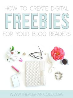 How To Create Digital Freebies For Your Blog Readers  The Alisha Nicole