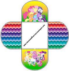 Ideas y material gratis para fiestas y celebraciones Oh My Fiesta!: Cajitas imprimibles de My Little Pony 3.