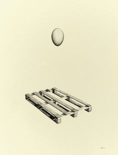 Greg Eason, Egg & Palette (2011), pencil on paper, 15.4 x 22.2''
